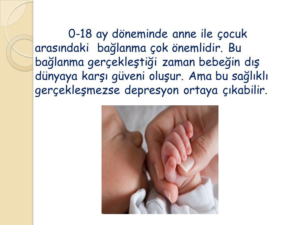 0-18 ay döneminde anne ile çocuk arasındaki bağlanma çok önemlidir. Bu bağlanma gerçekleştiği zaman bebeğin dış dünyaya karşı güveni oluşur. Ama bu sa