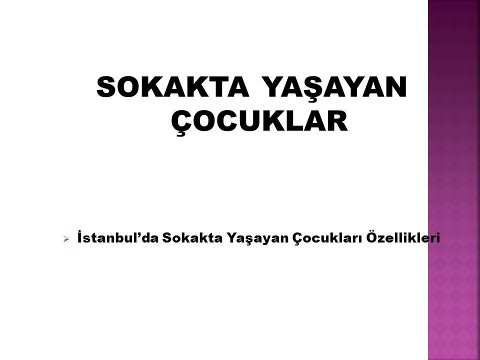 SOKAKTA YAŞAYAN ÇOCUKLAR  İstanbul'da Sokakta Yaşayan Çocukları Özellikleri