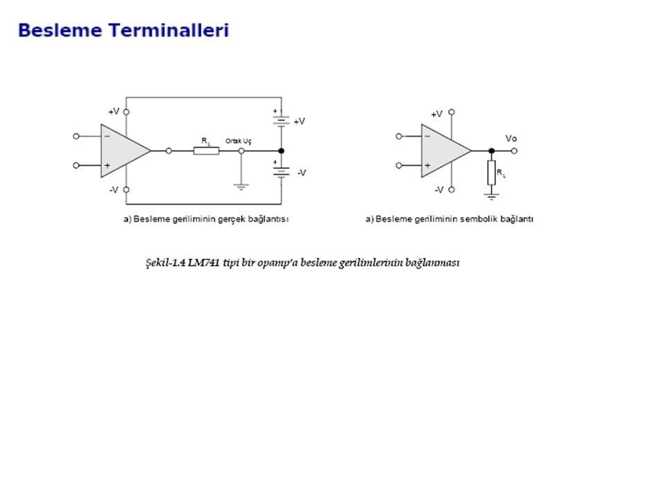 Örnek Bir op-amp`ın A d = 800 ve A C = 0.1 dir.Op-amp`ın CMRR değeri kaç dB dir.