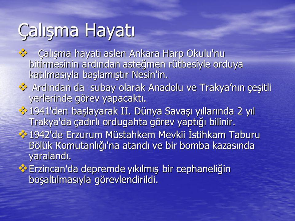  Aynı yıl Zonguldak ta uçaksavar top mevzileri yaptırmakla da görevlendirildikten sonra üsteğmen rütbesindeyken görev ve yetkisini kötüye kullandığı suçlamasıyla askerlikten uzaklaştırıldı.