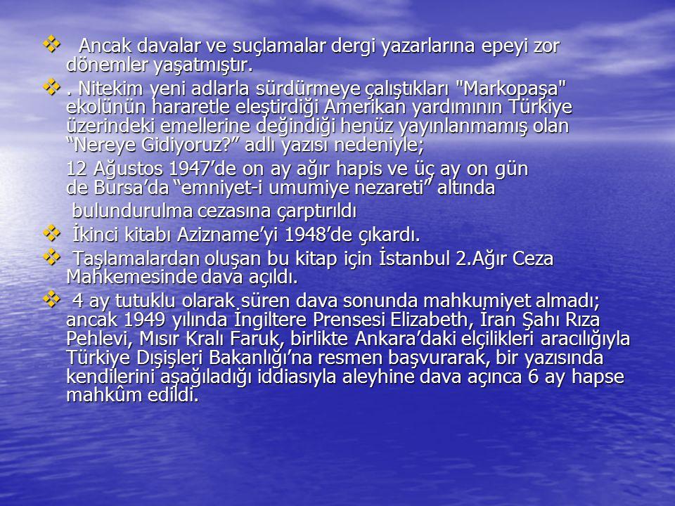 Yedek Parça (1955) Fil Hamdi (1955) Damda Deli Var (1956) Koltuk (1957) Kazan Töreni (1957) Toros Canavarı (1957) Deliler Boşandı (1957) Mahallenin Kısmeti (1957) Ölmüş Eşek (1957) Hangi Parti Kazanacak (1957) Havadan Sudan (1958) Bay Düdük (1958) Nazik Alet (1958) Gıdı gıdı (1959) Yedek Parça (1955) Fil Hamdi (1955) Damda Deli Var (1956) Koltuk (1957) Kazan Töreni (1957) Toros Canavarı (1957) Deliler Boşandı (1957) Mahallenin Kısmeti (1957) Ölmüş Eşek (1957) Hangi Parti Kazanacak (1957) Havadan Sudan (1958) Bay Düdük (1958) Nazik Alet (1958) Gıdı gıdı (1959)
