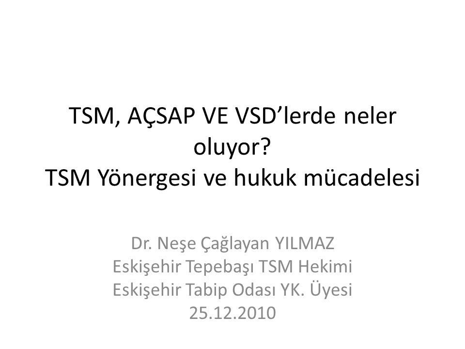 Öykü 17.07.2006 Eskişehir'de 5 TSM kuruldu.22.07.2006 hekim yokluğundan 5 'nolu TSM kapatıldı.