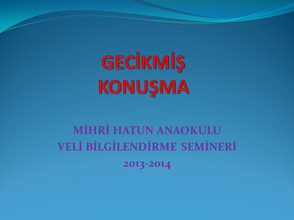 MİHRİ HATUN ANAOKULU VELİ BİLGİLENDİRME SEMİNERİ 2013-2014