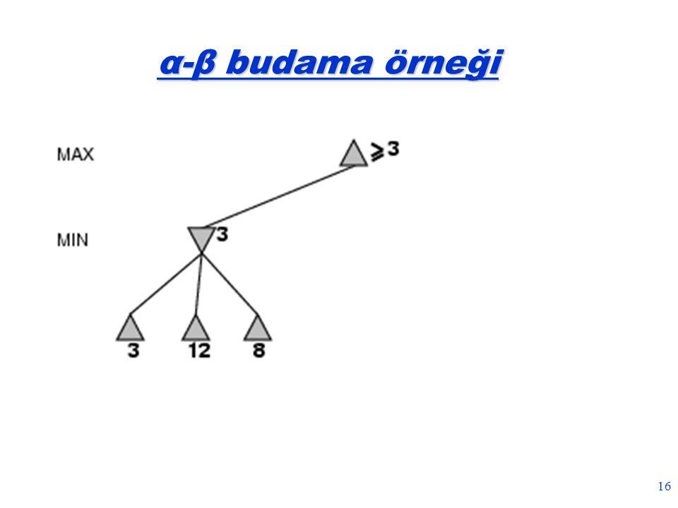 16 α-β budama örneği
