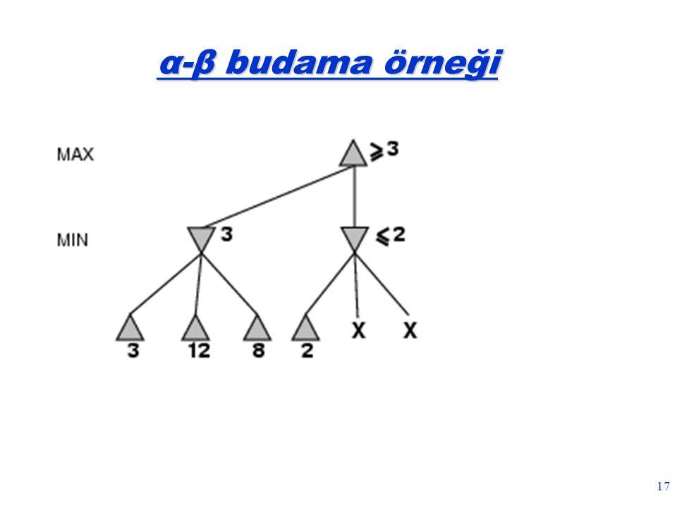 17 α-β budama örneği