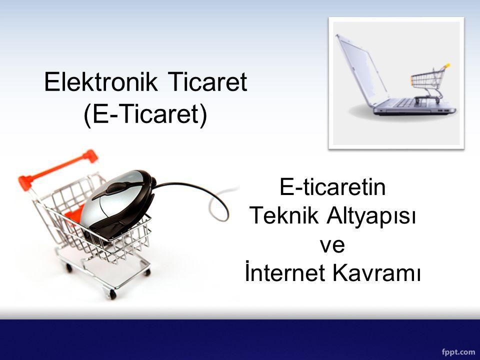 Elektronik Ticaret (E-Ticaret) E-ticaretin Teknik Altyapısı ve İnternet Kavramı