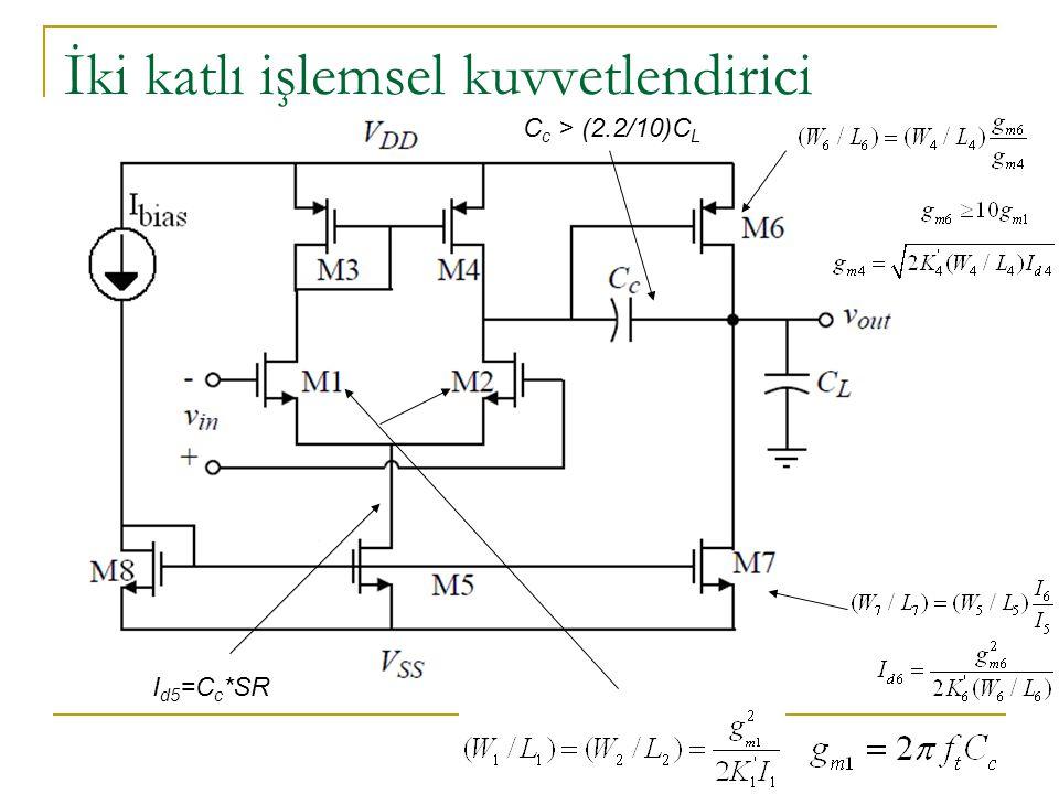 İki katlı işlemsel kuvvetlendirici C c > (2.2/10)C L I d5 =C c *SR