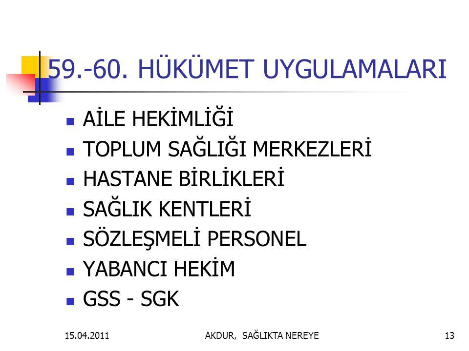 AKDUR, SAĞLIKTA NEREYE13 59.-60.