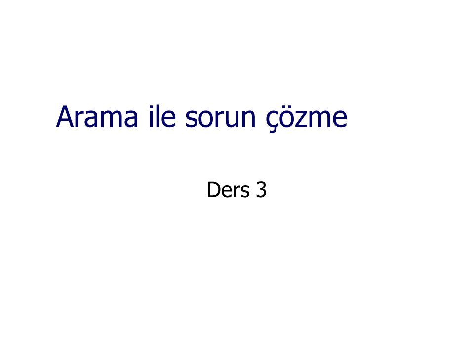 Arama ile sorun çözme Ders 3