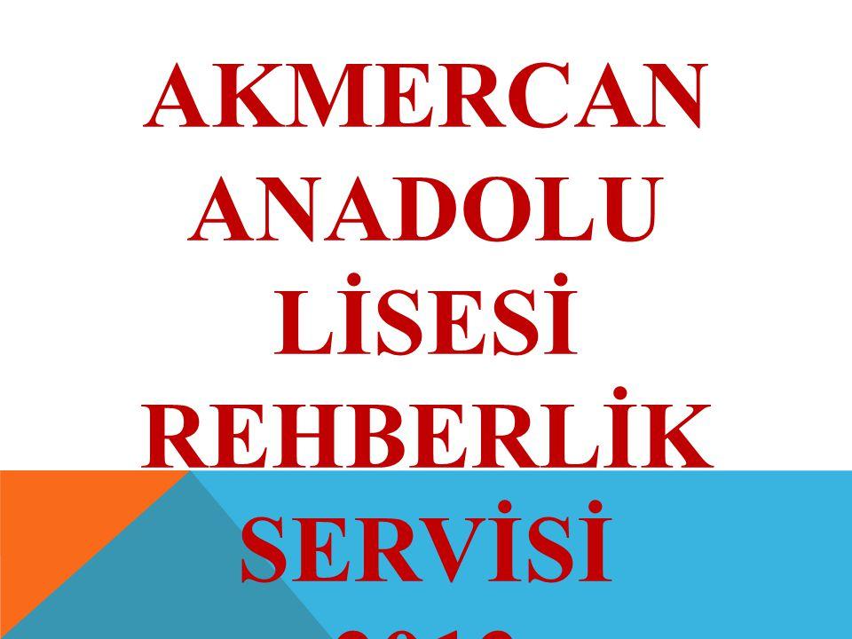 AKMERCAN ANADOLU LİSESİ REHBERLİK SERVİSİ 2013