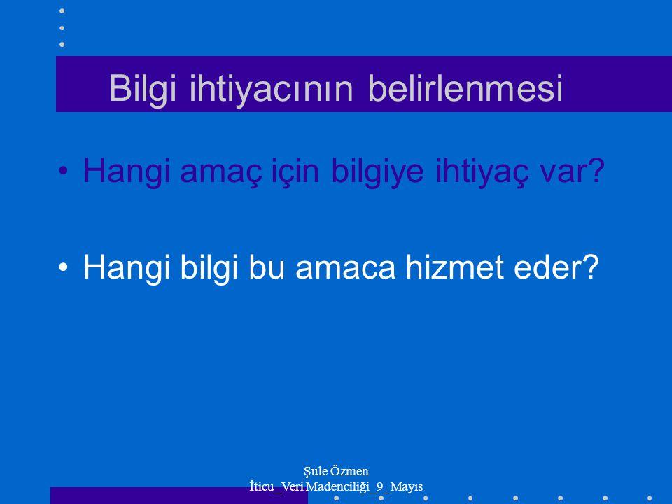 Şule Özmen İticu_Veri Madenciliği_9_Mayıs Amaca uygun bilgi nedir.