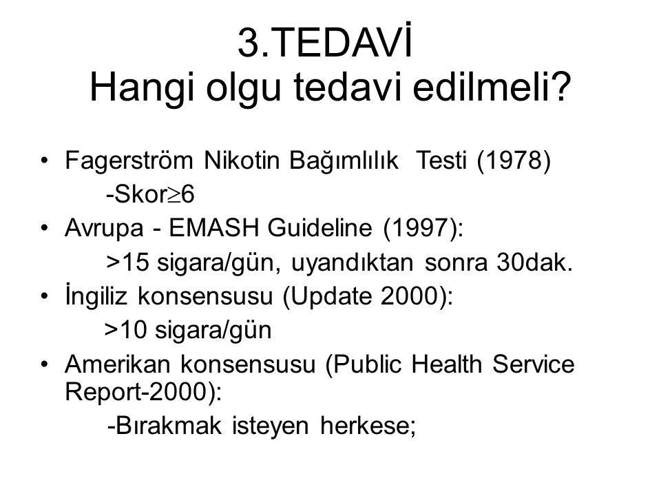 3.TEDAVİ Hangi olgu tedavi edilmeli.