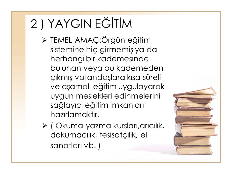 İmam Hatip Lisesi ve Anadolu İmam Hatip Lisesi İmam ve Hatiplik ile ilgili temel mesleki yeterlilikleri kazandırır.