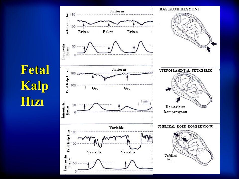 11 Servikal dilatasyon (cm) Latent faz Aktif faz 2. EVRE (pelvik) 1. EVRE (servikal) 3. EVRE (plasental)