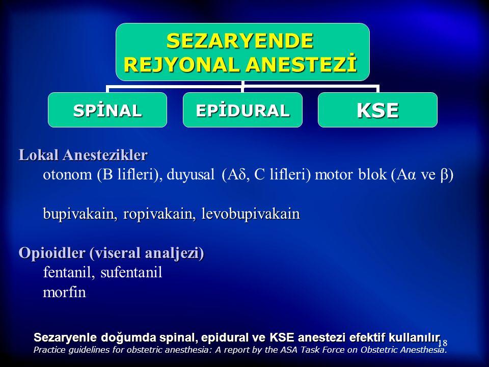 17  62 sağlıklı gebe (45 primigravid, 17 multigravid)  VNS 8'e ulaştığında hastanın isteği ile uygulama  27 G pencil point spinal iğne ile  Bupiva