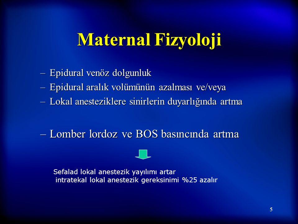 4 Maternal Fizyoloji GFH +%50 GIS'de reflü ve aspirasyon riskinde artma F I (fibrinojen), F II, VII, VIII, IX, X, XII yüksek F I (fibrinojen), F II, V