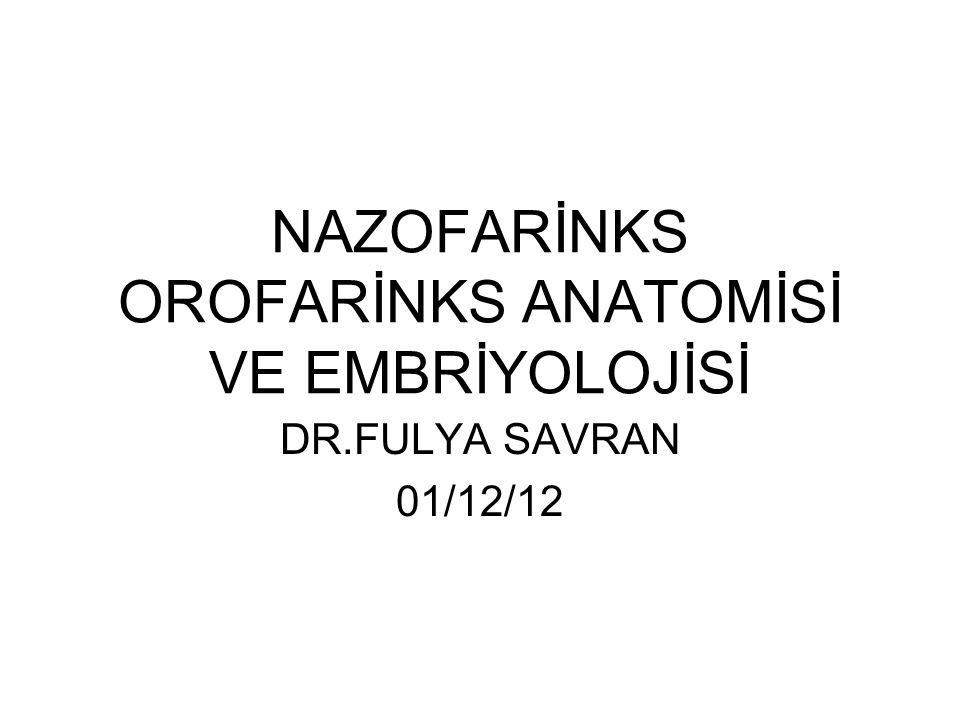 Farinks yapıları embriyoloji 8.Hafta: Tonsiller fossa ve palatin tonsiller 1.