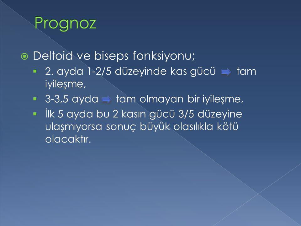  Deltoid ve biseps fonksiyonu;  2.