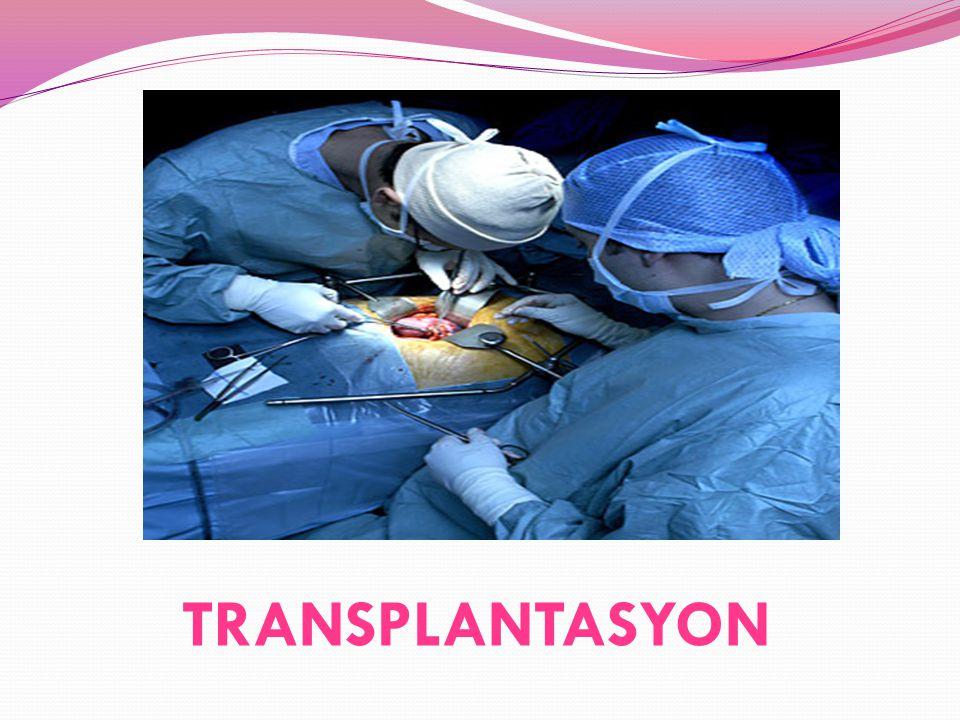 B)CANLIDAN YAPILAN NAK İ L Nakil bekleyen hastanın eşi veya yakın akrabaları doku, kan grubu vb.