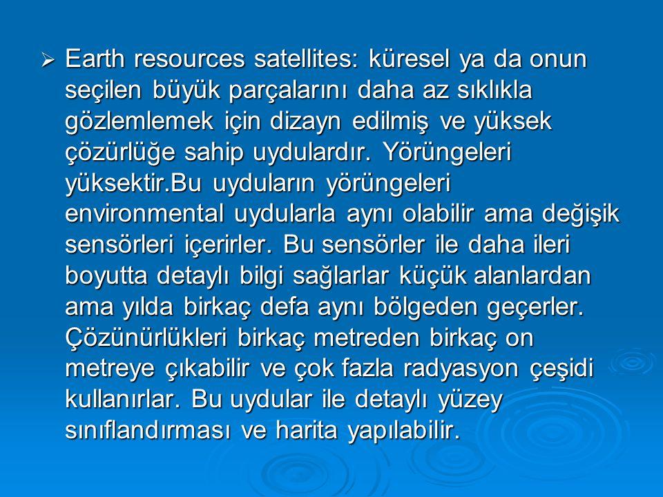  Son yıllarda bu iki uydunun sahip olduğu özelliklerin arasındaki özellikleri dolduran uydular geliştirildi.