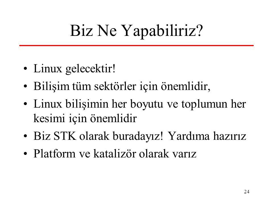 24 Biz Ne Yapabiliriz. Linux gelecektir.