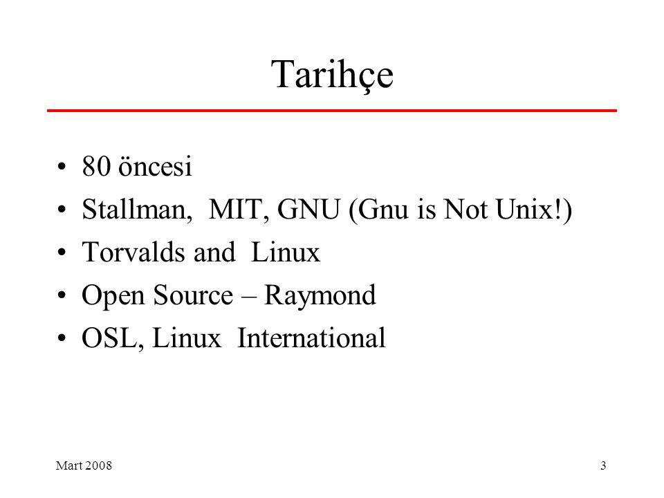 14 Linux Kullanıcıları Derneği 1994 linux@bilkent.edu.trlinux@bilkent.edu.tr 1995 inet-tr 1996 inet-tr, linux.org.tr İnet-tr, AB, İnternet Haftası 2000 Mayısı LKD Kuruldu Linux ve Özgür Yazılım, açık kaynak Kullanıcı, geliştirici, kurum, firma; çerceve