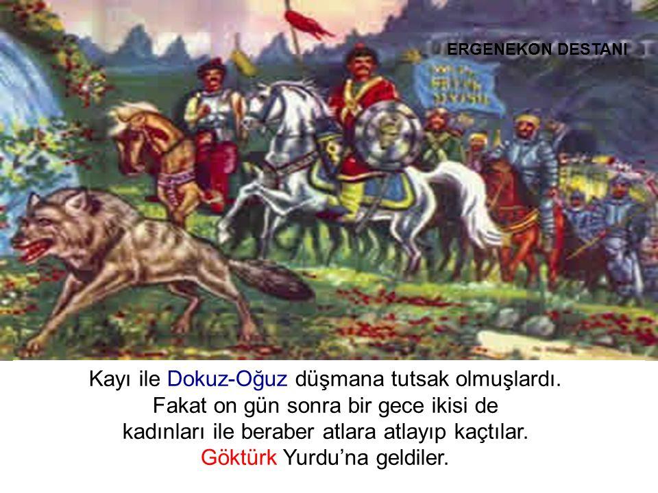 Burada düşmandan kaçıp gelen, çok deve, at, öküz ve koyun buldular….