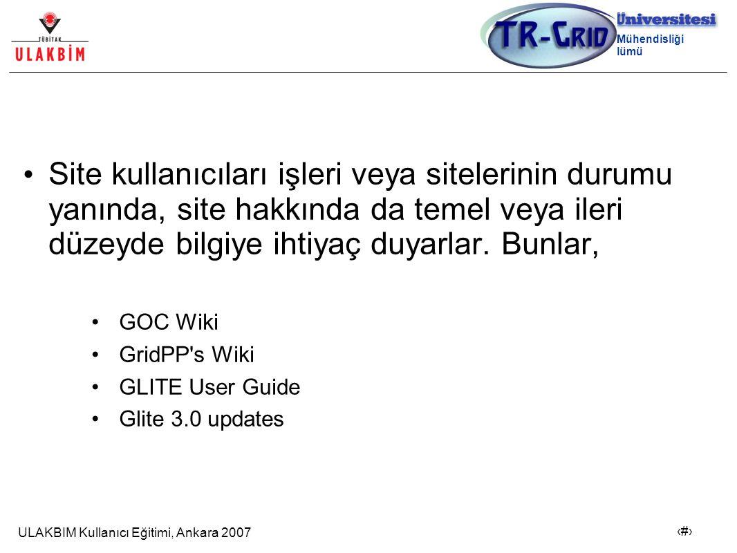 ULAKBIM Kullanıcı Eğitimi, Ankara 2007 21 Bilgisayar Mühendisliği Bölümü Site kullanıcıları işleri veya sitelerinin durumu yanında, site hakkında da temel veya ileri düzeyde bilgiye ihtiyaç duyarlar.