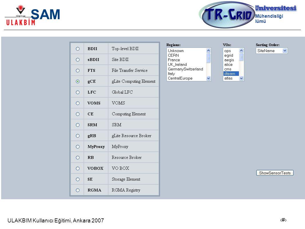 ULAKBIM Kullanıcı Eğitimi, Ankara 2007 19 Bilgisayar Mühendisliği Bölümü TR-Grid GANGLIA