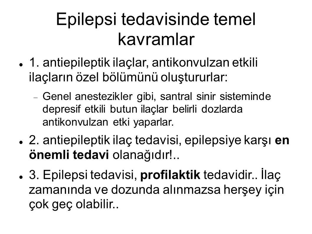 Epilepsi tedavisinde temel kavramlar 1.