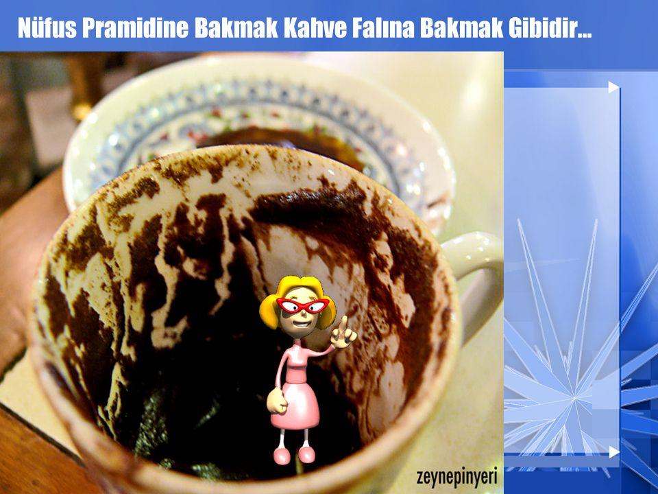 Nüfus Pramidine Bakmak Kahve Falına Bakmak Gibidir... Tabi Abartmadan Bakmak lazım...