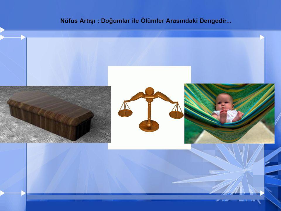 Nüfus Artışı ; Doğumlar ile Ölümler Arasındaki Dengedir...