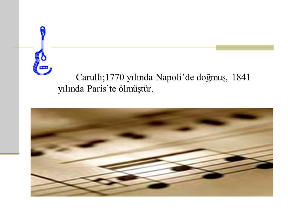 Ferdinando Carulli ' nin Hayatı Carulli Ferdinando, 19.yüzyılda yaşamış İtalyan gitarist ve bestecidir.