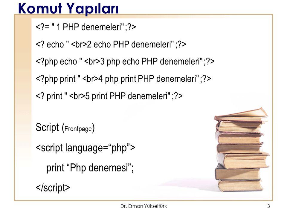 3 Komut Yapıları 2 echo PHP denemeleri