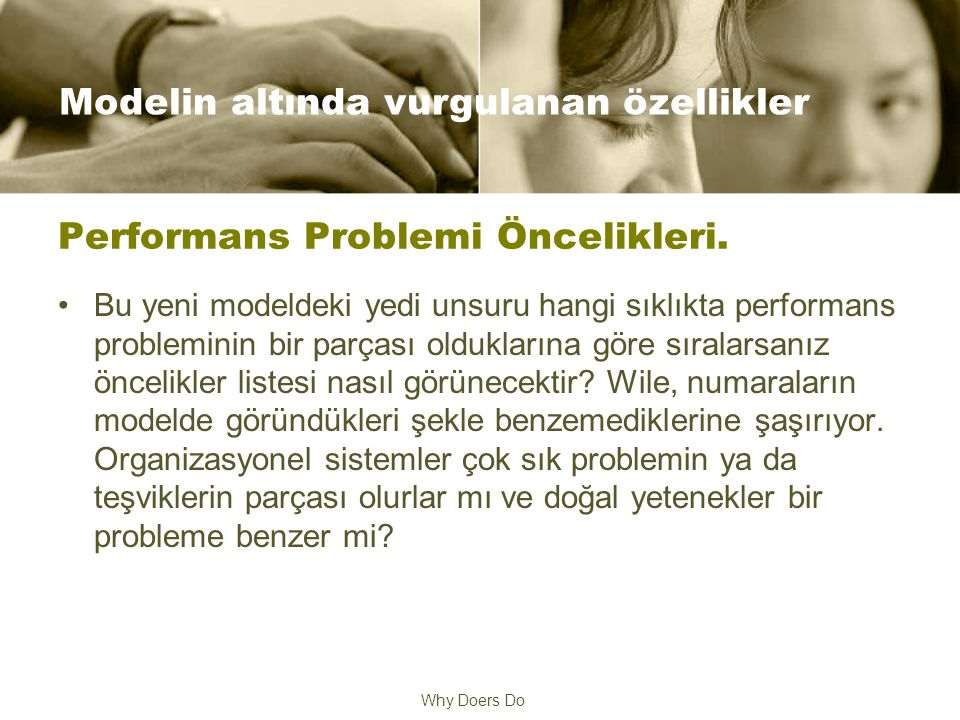 Why Doers Do Performans Problemi Öncelikleri.