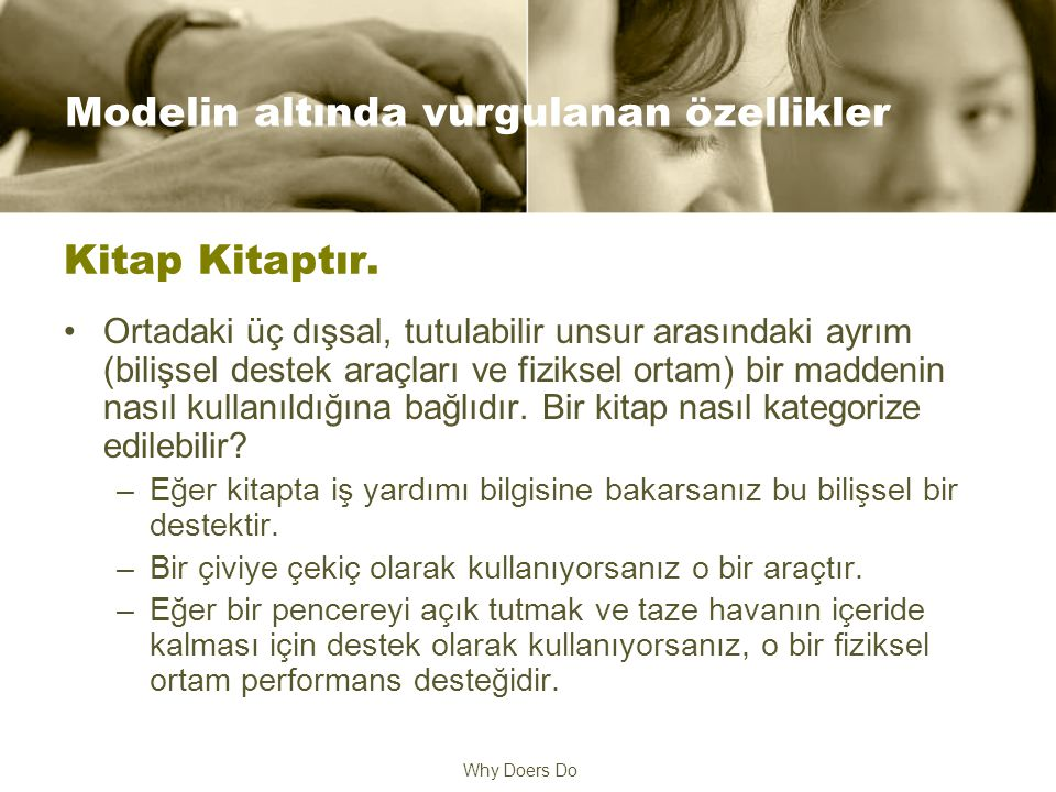 Why Doers Do Kitap Kitaptır.