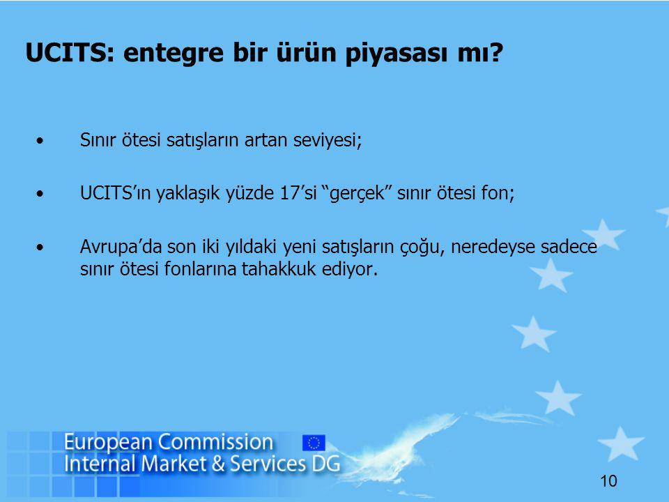 10 UCITS: entegre bir ürün piyasası mı.