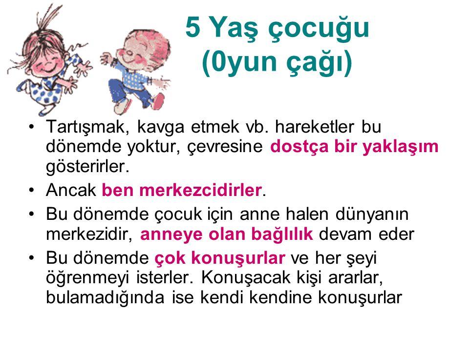 5 Yaş Çocuğunun Gelişim Özellikleri Temel renkleri bilir.
