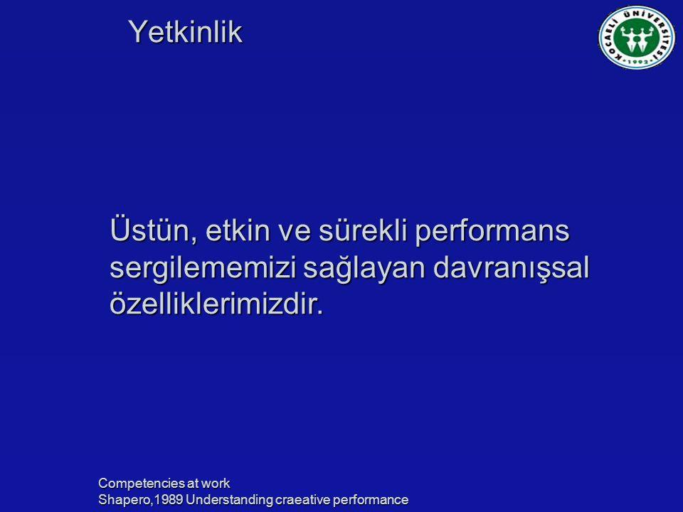 Üstün, etkin ve sürekli performans sergilememizi sağlayan davranışsal özelliklerimizdir.
