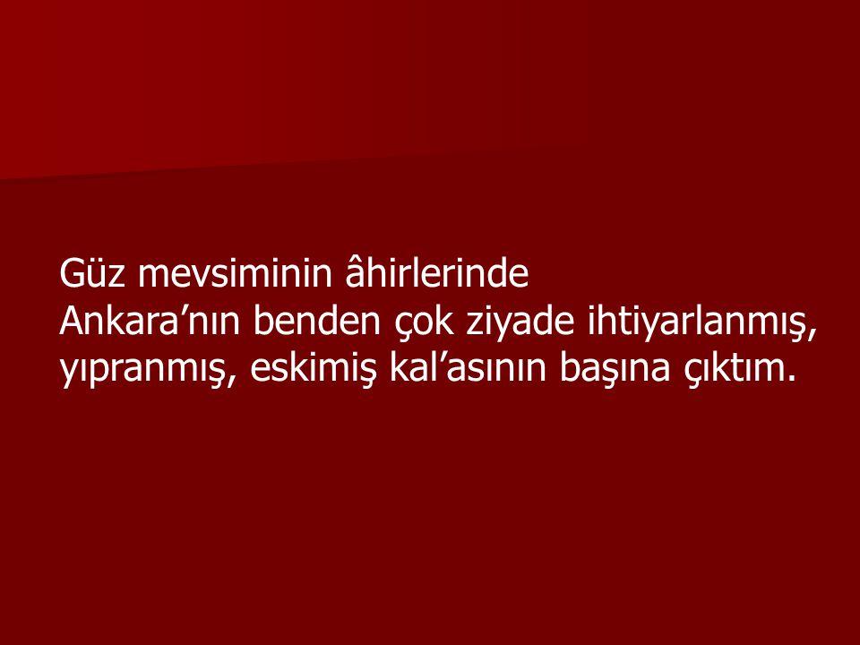 Bir zaman ihtiyarlığımın başlangıcında, Eski Said'in gülmeleri, Yeni Said'in ağlamalarına inkılâb ettiği hengâmda, Ankara'daki ehl-i dünya, beni Eski Said zannedip oraya istediler; gittim.