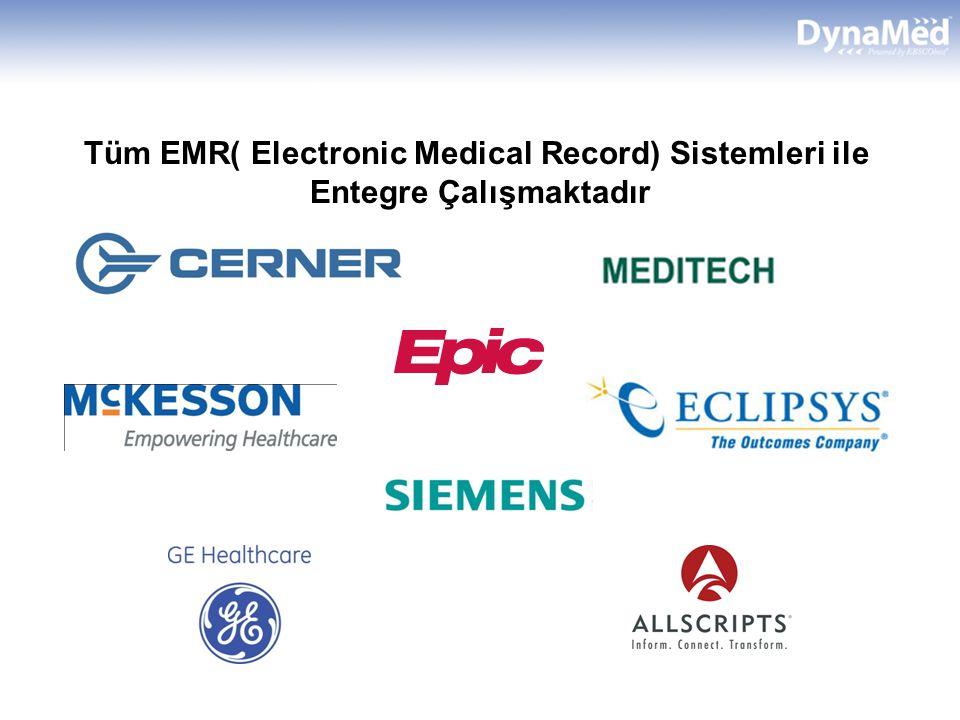 Tüm EMR( Electronic Medical Record) Sistemleri ile Entegre Çalışmaktadır