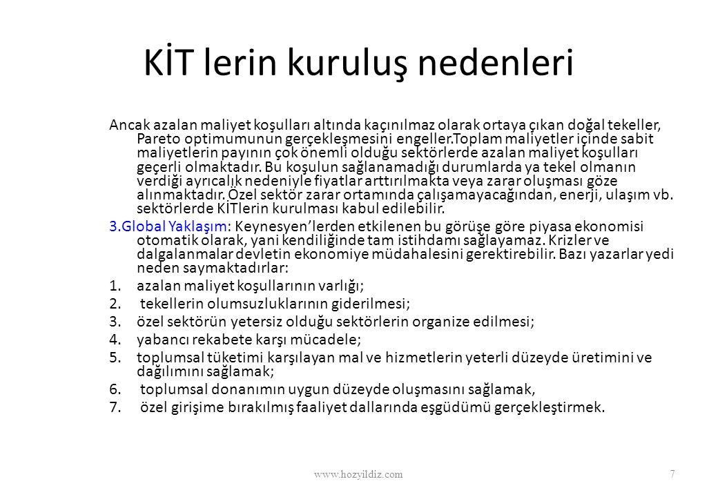 KİT'LERDE ÇALIŞANLARIN SAYISI AZALIYOR www.hozyildiz.com38