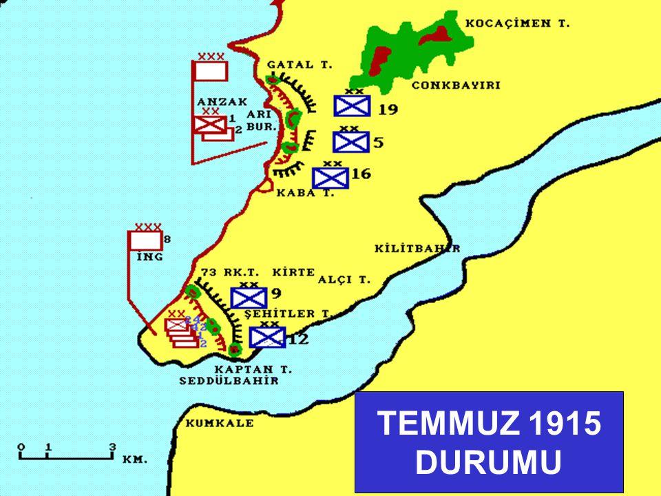 1 2 3 KUMKALE BÖLGESİ (25 NİSAN 1915)