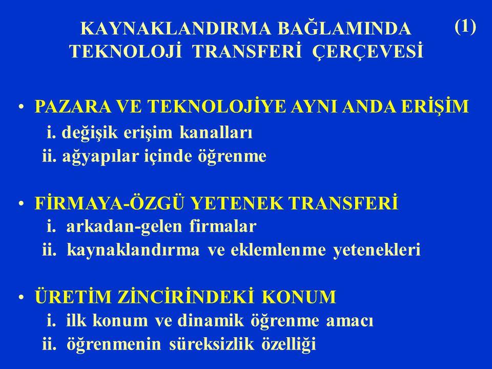 (2) MAKRO-ORGANİZASYON STRATEJİSİ i.