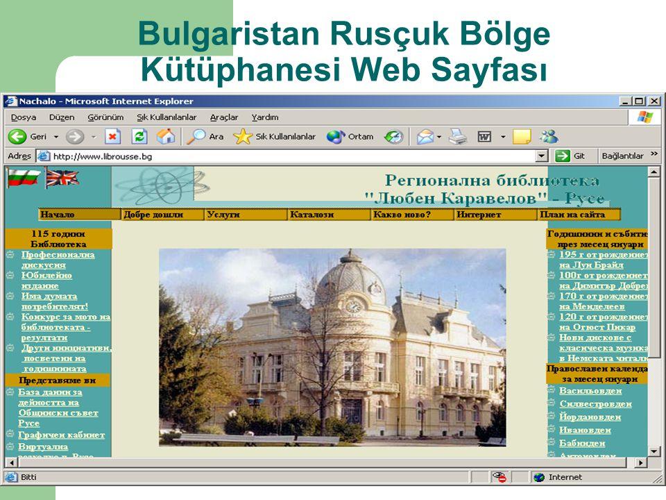 Bulgaristan Rusçuk Bölge Kütüphanesi Web Sayfası