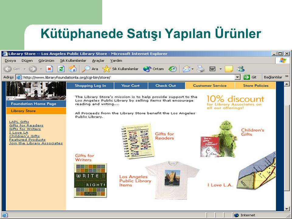 Kütüphanede Satışı Yapılan Ürünler