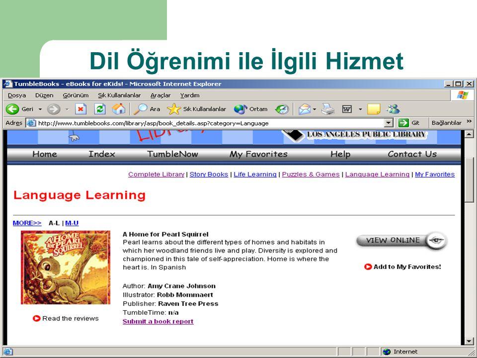 Dil Öğrenimi ile İlgili Hizmet