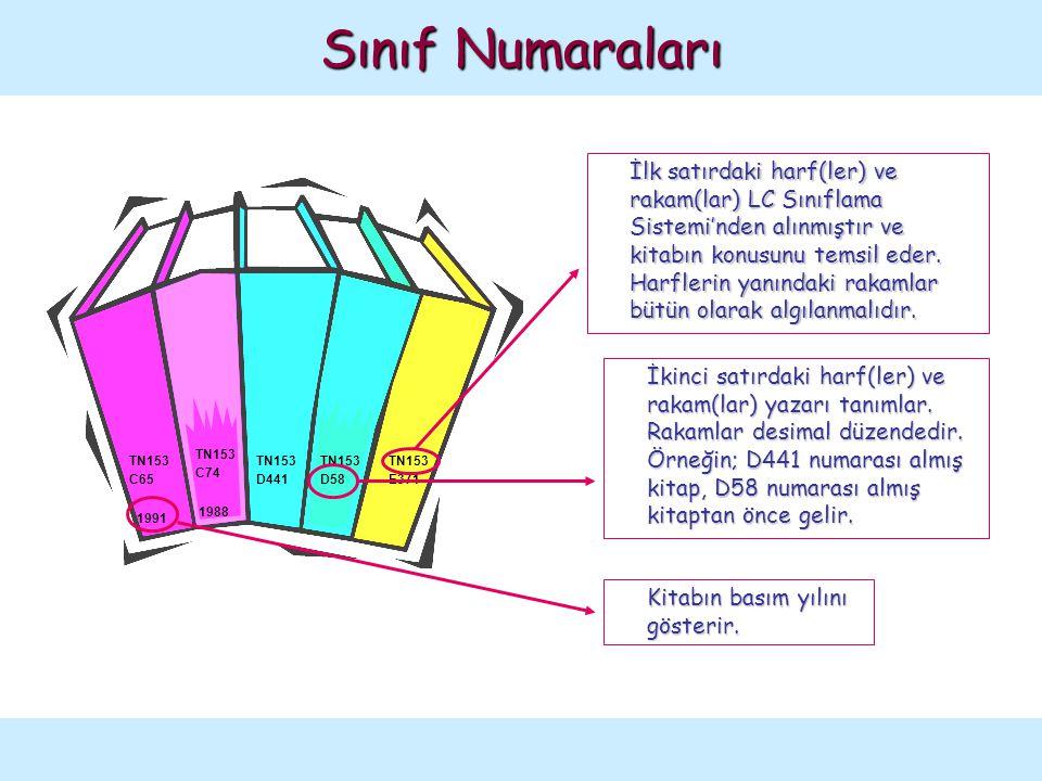 TN153 C74 1988 TN153 C65 1991 TN153 D441 TN153 D58 TN153 E371 İlk satırdaki harf(ler) ve rakam(lar) LC Sınıflama Sistemi'nden alınmıştır ve kitabın ko