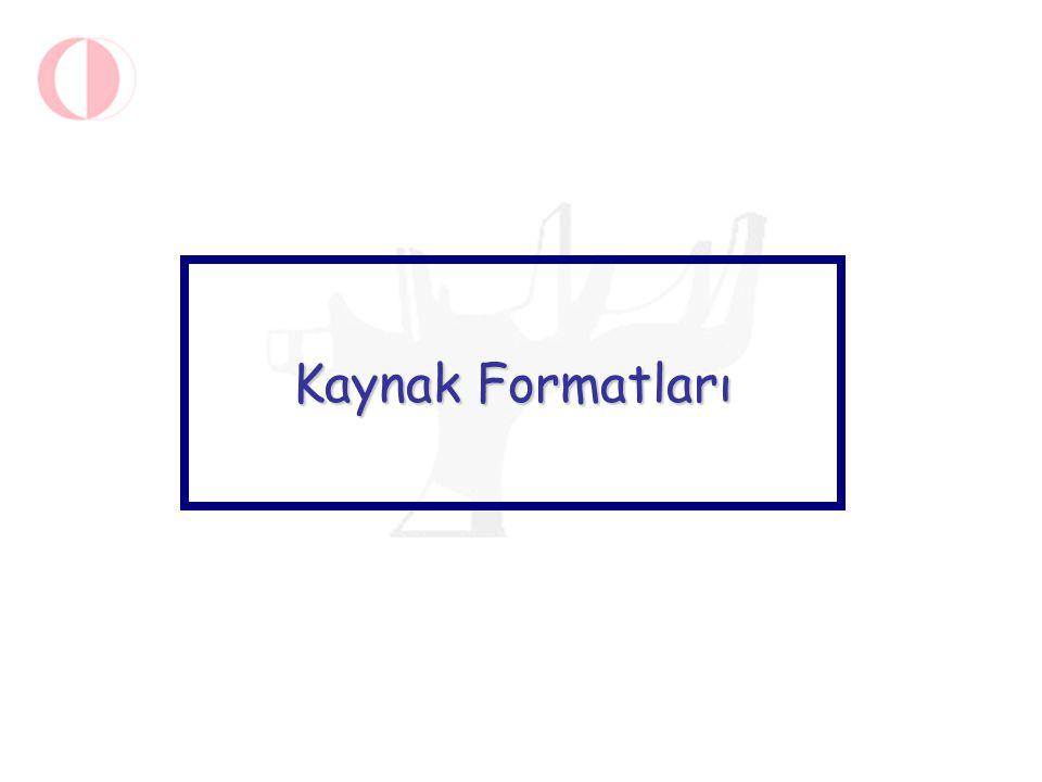 Kaynak Formatları