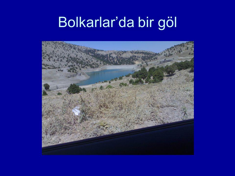 Bolkarlar'da bir göl